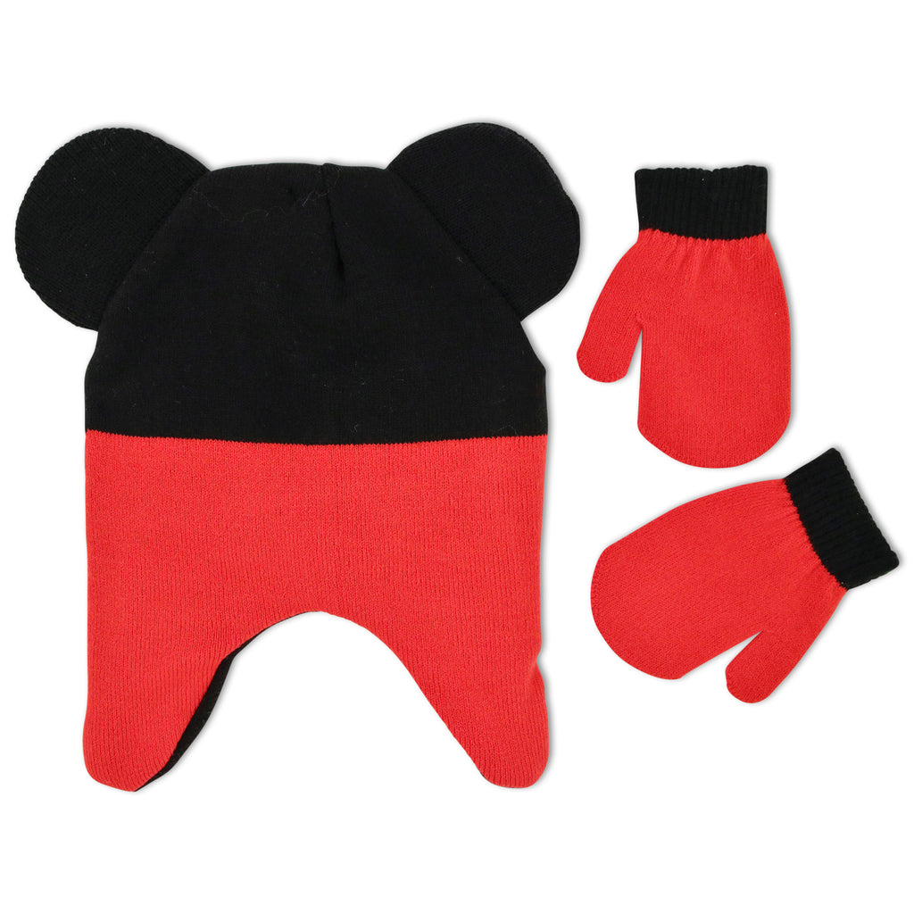 1c54464910c Disney Mickey Mouse Clubhouse Hat and Mitten Cold Weather Set ...