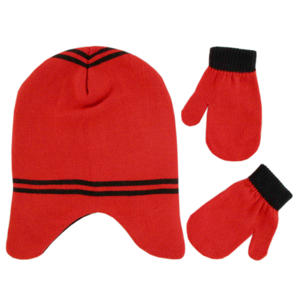 Disney Mickey Mouse Clubhouse Hat and Mittens Cold Weather Set, Toddler Boys, Age 2-4 - The Accessories Outlet
