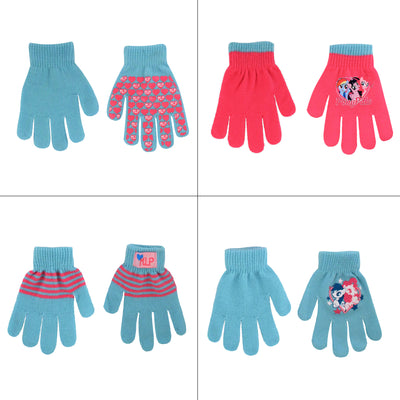 Hasbro Little Girls My Little Pony 4 Pair Gloves or Mittens Cold Weather Set, Age 2-7 - The Accessories Outlet