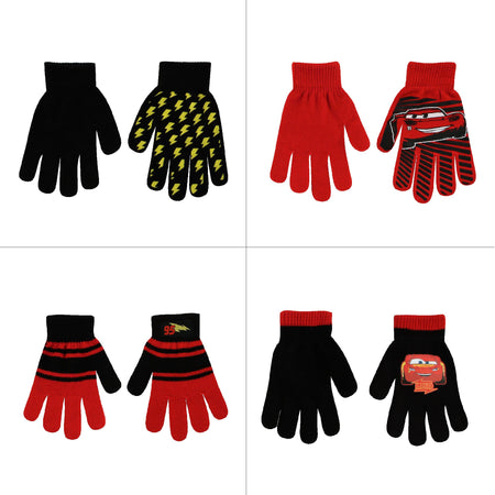 Disney Cars 4 Pair Gloves or Mittens Cold Weather Set, Little Boys, Age 2-7 - The Accessories Outlet