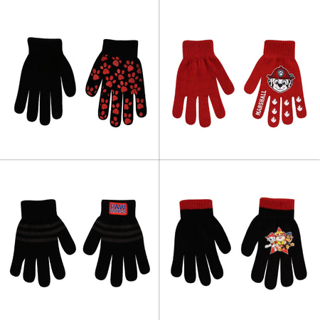 Nickelodeon Assorted Designs 4 Pair Gloves or Mittens Cold Weather Set, Little Boys, Age 2-7 - The Accessories Outlet