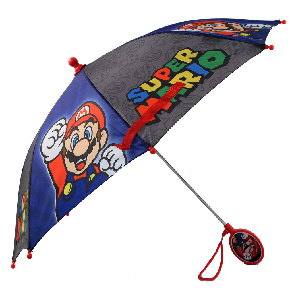 Nintendo Little Boys Mario And Luigi Character Rainwear Umbrellas, Ages 3-7 - The Accessories Outlet