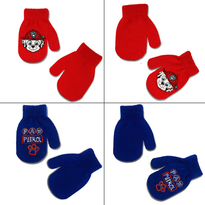 Nickelodeon Paw Patrol 4 Pair Acrylic Mittens Cold Weather Set, Toddler Boys, Age 2-4 - The Accessories Outlet