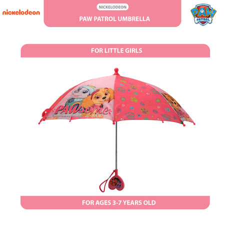 Nickelodeon Paw Patrol Character Umbrella, Little Girls, Age 3-7 - The Accessories Outlet
