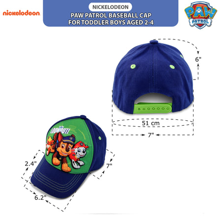 Nickelodeon Toddler Boys Paw Patrol Character 3D Pop Baseball Cap, Age 2-4 - The Accessories Outlet