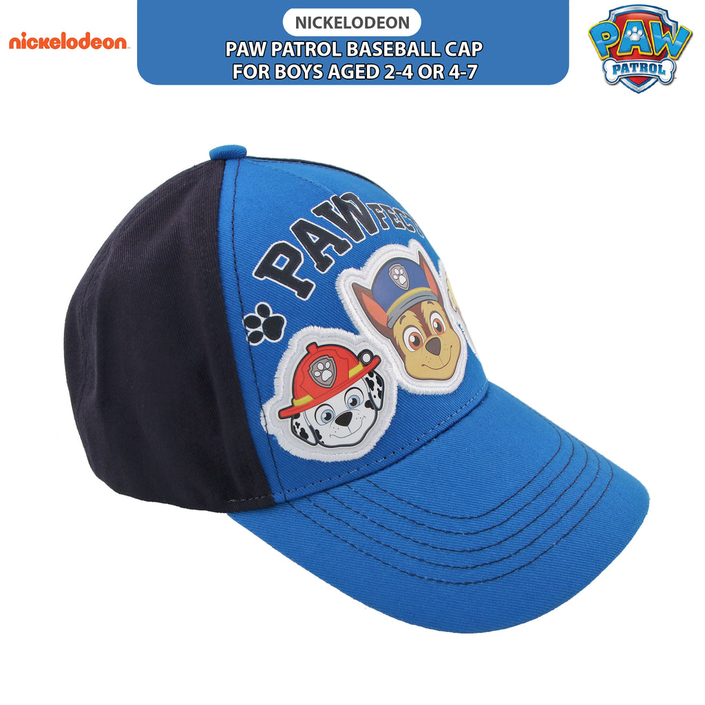 Nickelodeon Paw Patrol Baseball Cap, for Toddler, Little Boys-Ages 2-4, and 4-7 - The Accessories Outlet