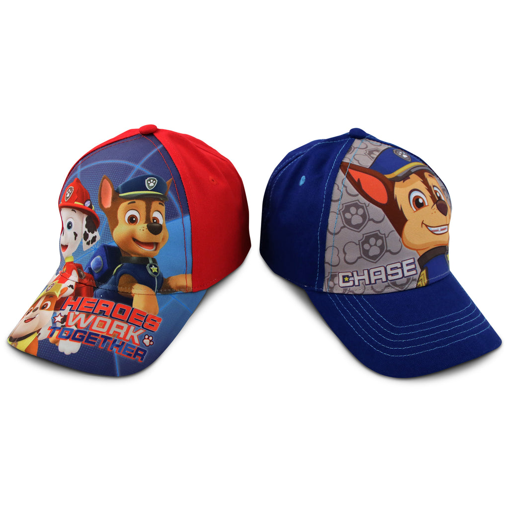Nickelodeon Little Boys Paw Patrol Character Cotton Baseball Cap, 2 Piece Design Set, Age 2-7 - The Accessories Outlet