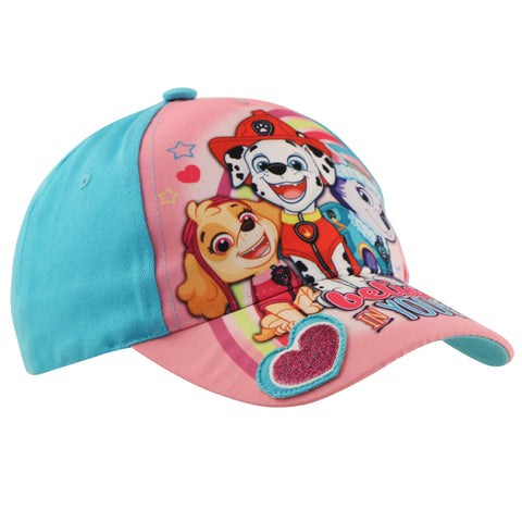 Nickelodeon Paw Patrol Character Cotton Baseball Cap, Toddler Girls Age 2-4 - The Accessories Outlet