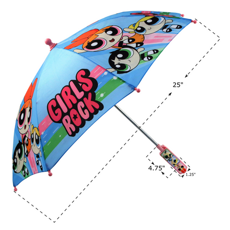 Powerpuff Girls Little Girls Assorted Character Rainwear Umbrella, Age 3-7 - The Accessories Outlet