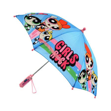 Powerpuff Girls Little Girls Assorted Character Rainwear Umbrella, Age 3-7