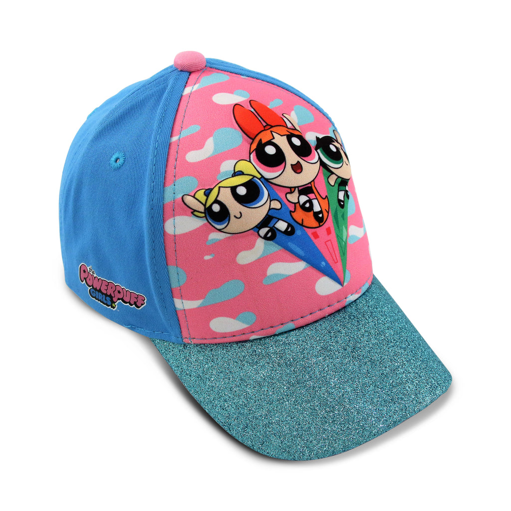 Powerpuff Girls Little Girls Assorted Characters Baseball Cap, Blue, Age 4-7 - The Accessories Outlet