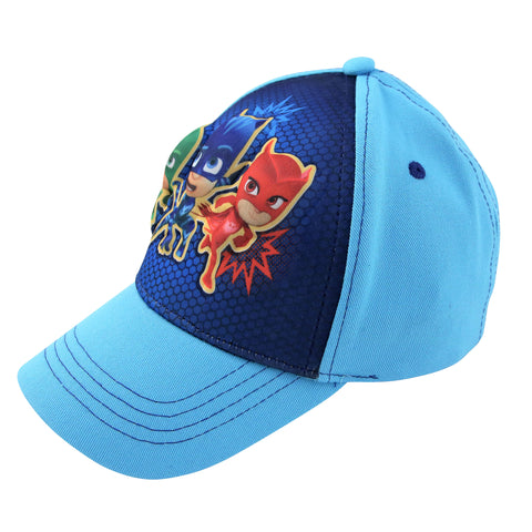 PJ Masks Little Boys Character 3D Pop Baseball Cap, Light Blue, Ages 2-4, 4-7 - Accessory Place