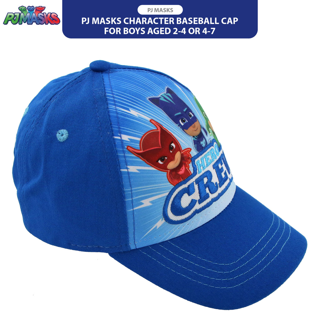 PJ Masks Character Baseball Cap, Blue, Little Boys Ages 2-4, 4-7 - The Accessories Outlet