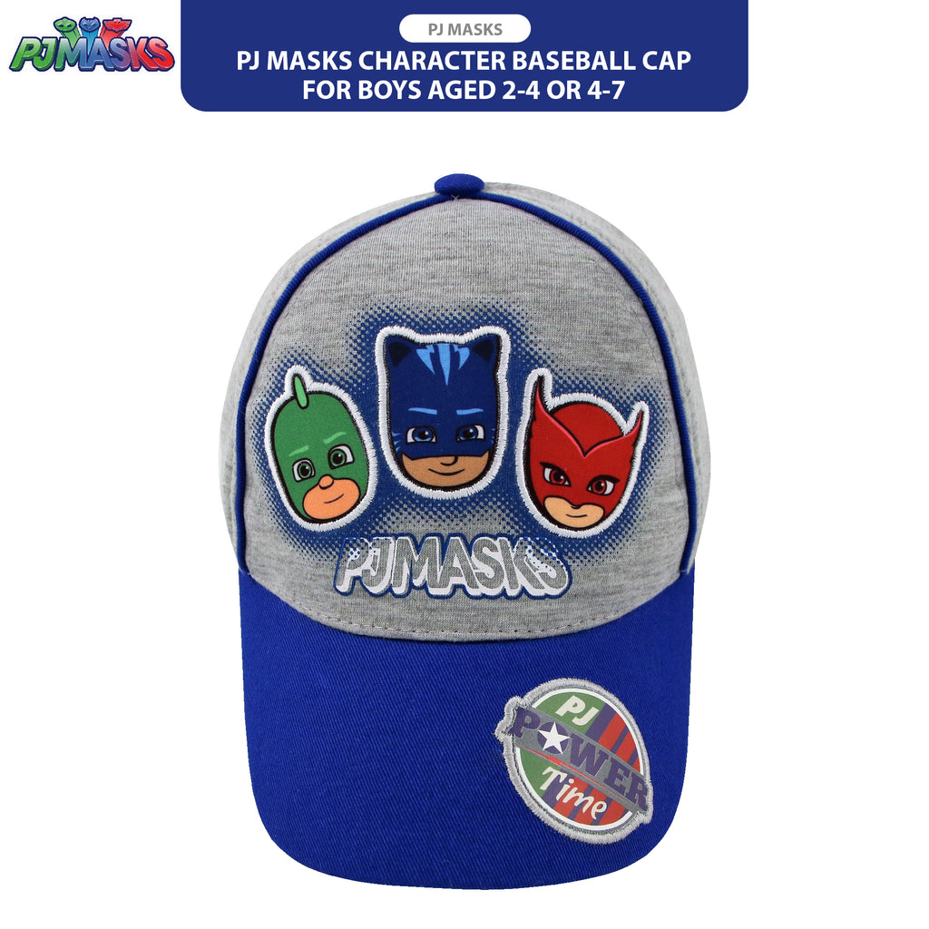 PJ Masks Character Baseball Cap, Grey, Little Boys Ages 2-4, 4-7 - The Accessories Outlet