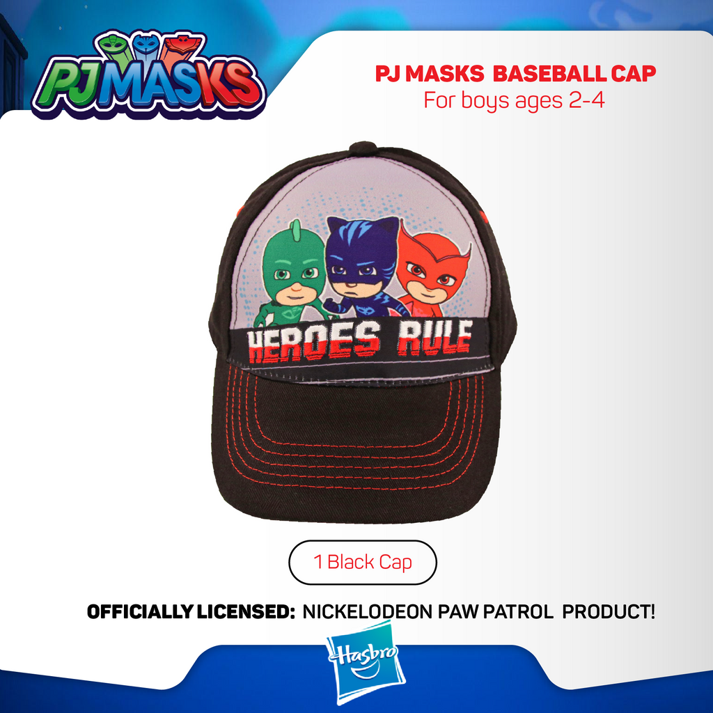 black PJ Masks Boys Baseball cap
