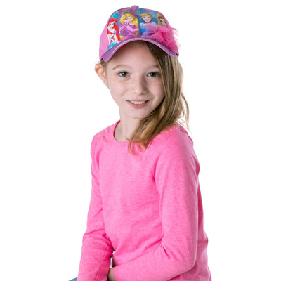 Disney Princess Characters Cotton Baseball Cap, Little Girls, Age 4-7 - The Accessories Outlet