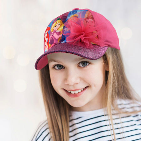 Disney Princess Characters Cotton Baseball Cap, Little Girls, Age 4-7 - Accessory Place