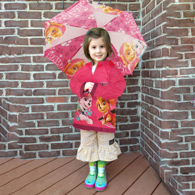 Nickelodeon Paw Patrol Slicker and Umbrella Rainwear Set, Little Girls, Age 2-7 - The Accessories Outlet