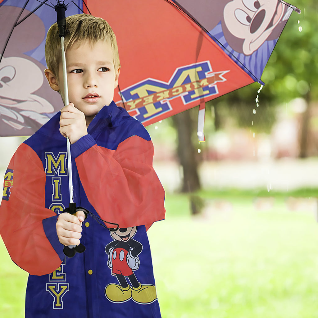 Disney Mickey Mouse Slicker and Umbrella Rainwear Set, Little Boys, Age 2-7 - The Accessories Outlet