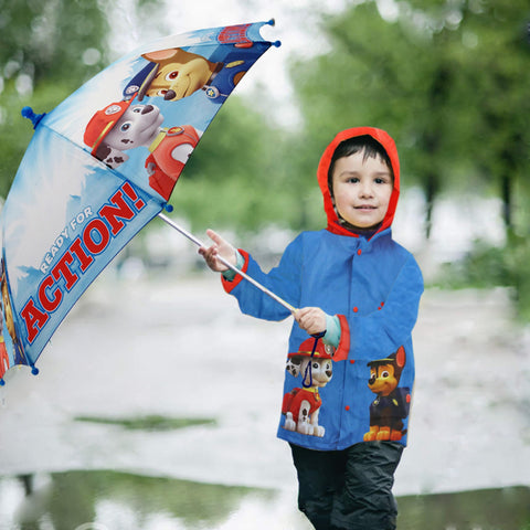 Nickelodeon Paw Patrol Slicker and Umbrella Rainwear Set, Little Boys, Age 2-7 - Accessory Place