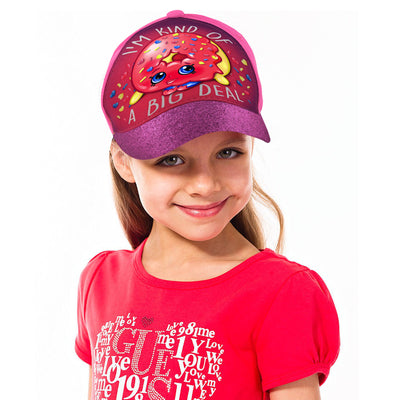 Shopkins Little Girls D'Lish Donut Character 3D Pop Baseball Cap, Age 4-7 - The Accessories Outlet