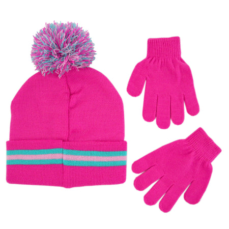 Age 4-7 Peak 2 Peak Boys and Girls Animal Face Beanie Winter Hat and Glvoes Cold Weather Set