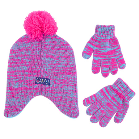 Shopkins Characters Hat and Gloves Cold Weather Set, Little Girls, Age 4-7 - The Accessories Outlet