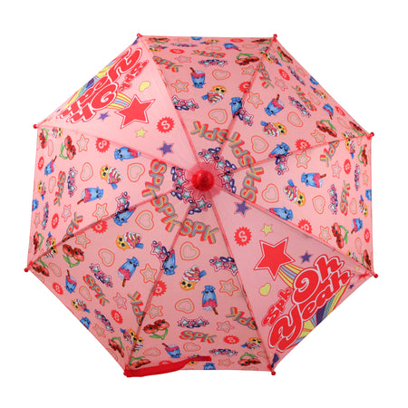 Shopkins Little Girls Assorted Character Rainwear Umbrella, Pink, Age 3-7 - The Accessories Outlet