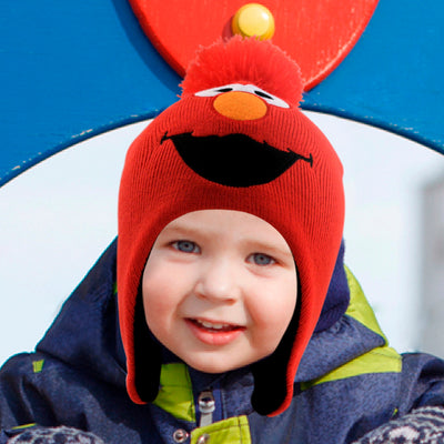 abf4cb473f78a Sesame Street Elmo Hat and 2 Pair Mittens Cold Weather Set