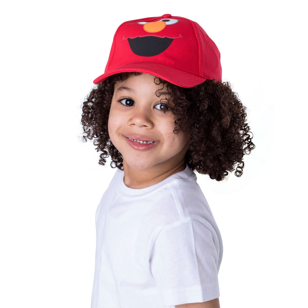 Sesame Street Elmo Character Cotton Baseball Cap, Toddler Boys, Age 2-4 - Accessory Place