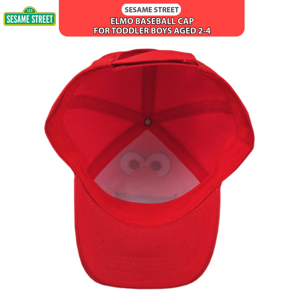 Sesame Street Elmo Character Cotton Baseball Cap, Toddler Boys, Age 2-4 - The Accessories Outlet