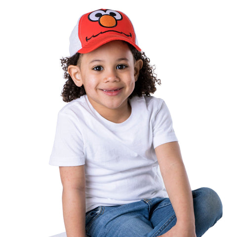 Sesame Street Elmo Heather Jersey Baseball Cap, Toddler Boys, Age 2-4