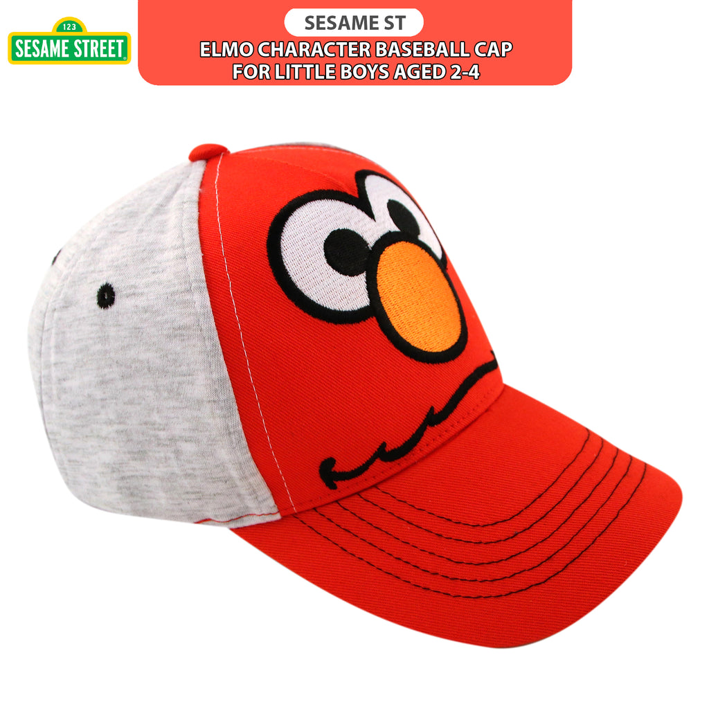 Sesame Street Elmo Heather Jersey Baseball Cap, Toddler Boys, Age 2-4 - Accessory Place