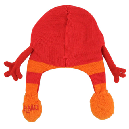 Sesame Street Elmo Squeeze and Flap Fun Cold Weather Hat, Little Boys, Age 4-7