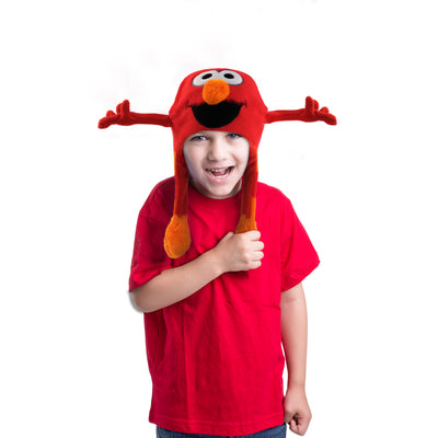Sesame Street Elmo Squeeze and Flap Fun Cold Weather Hat, Little Boys, Age 4-7 - The Accessories Outlet