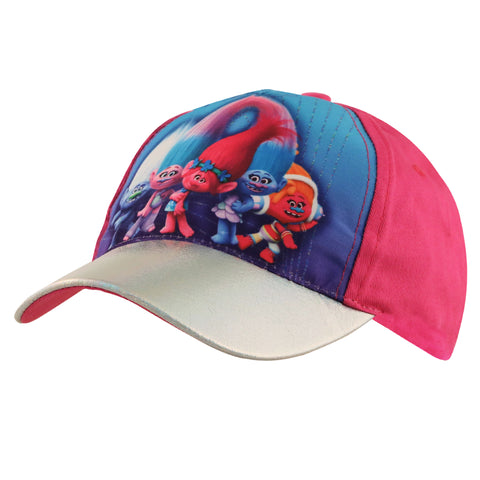 Trolls Poppy Character Baseball Cap, Little Girls Age 4-7 - The Accessories Outlet