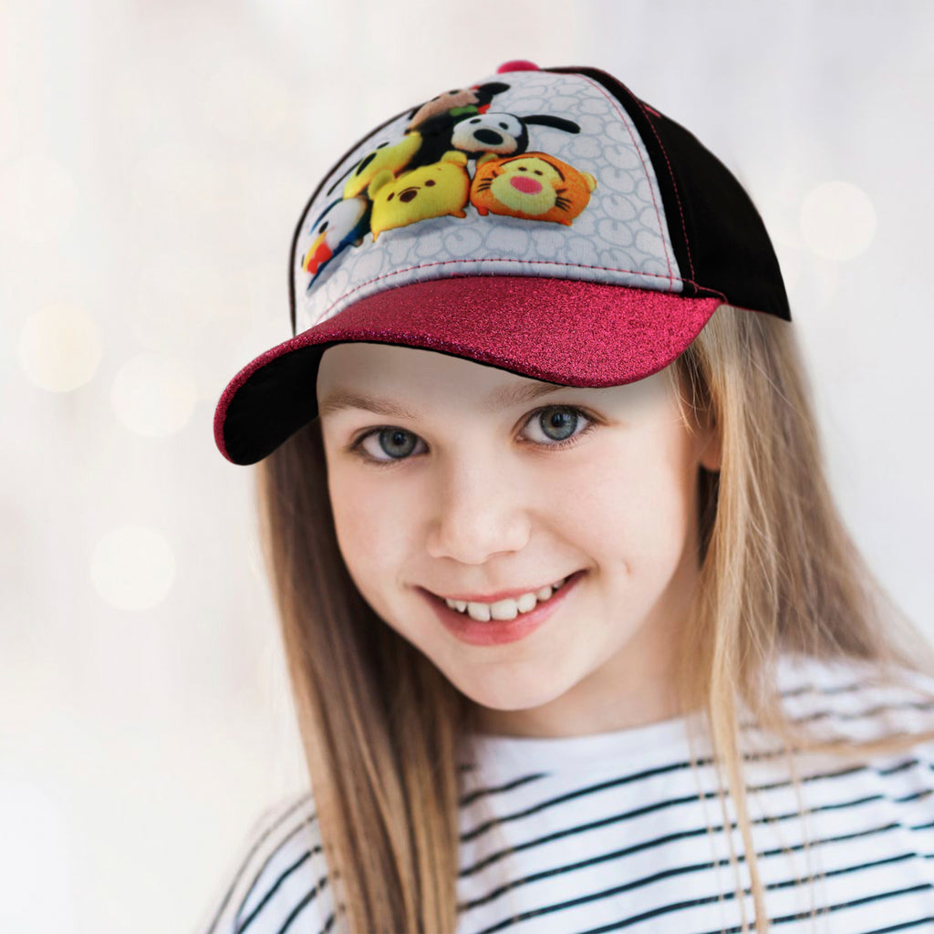 Disney Little Girls Tsum Tsum Characters 3D Pop Baseball Cap, Age 4-7 - The Accessories Outlet