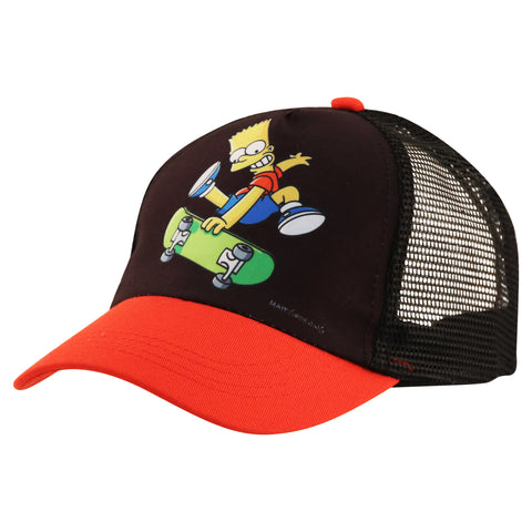 The Simpsons Boys Little Bart Hat and Gloves Cold Weather Set grey//black//red Age 4-7