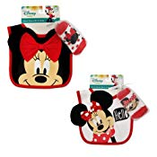 Disney Minnie Mouse Bib and Socks Set, 2 Piece Bundle Set, Baby Girls, Age 0-12M - The Accessories Outlet
