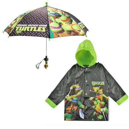 Nickelodeon TMNT Slicker and Umbrella Rainwear Set, Little Boys, Age 2-7 - The Accessories Outlet