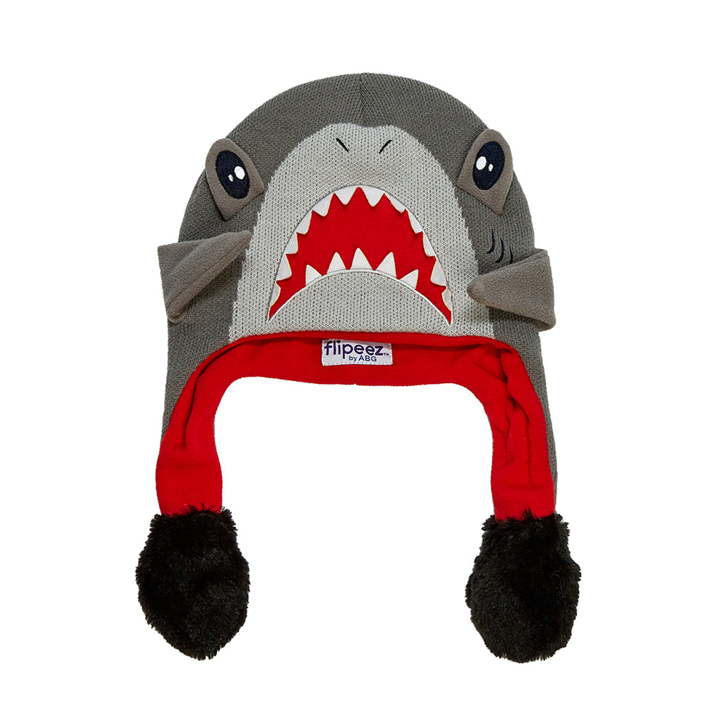 ABG Accessories Shark Squeeze and Flap Fun Cold Weather Hat, Little Boys, Age 4-7 - The Accessories Outlet