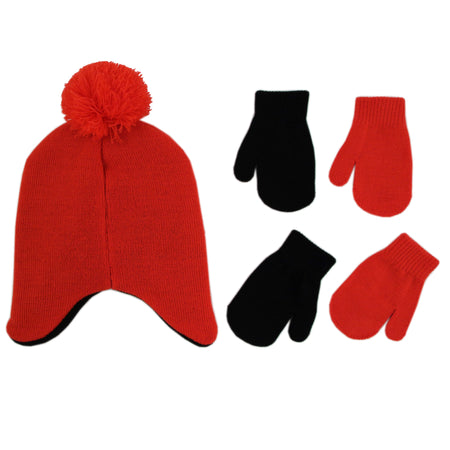 Sesame Street Elmo Hat and 2 Pair Mittens Cold Weather Set, Toddler Boys, Age 2-4 - The Accessories Outlet