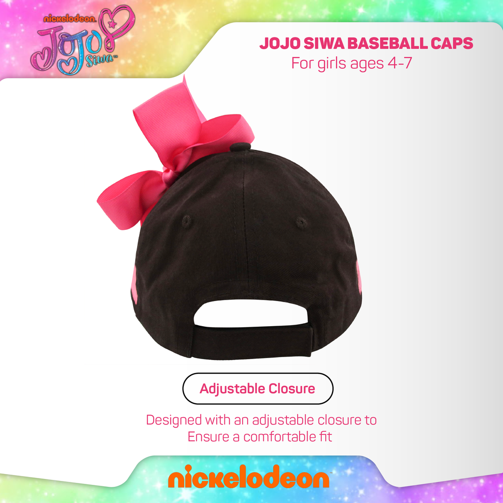 Nickelodeon JoJo Baseball Cap, Little Girls, Ages 4-7 - The Accessories Outlet