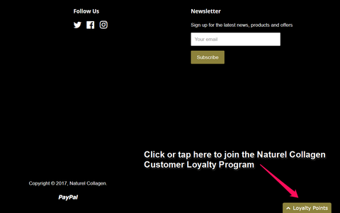 Naturel Collagen Loyalty Points Program