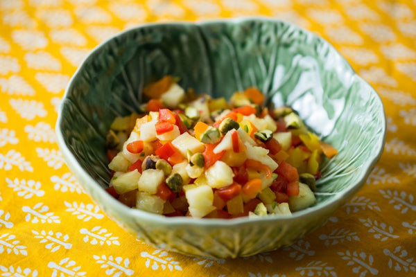 Spicy Pineapple and Pepper Salad