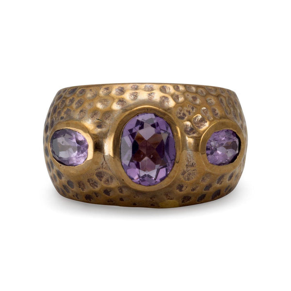 Bronze and Amethyst Ring | Brittono's Collection