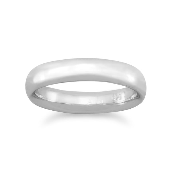 4mm Rhodium Plated Band | Brittono's Collection