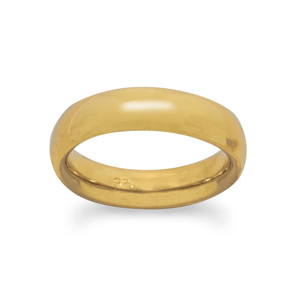 5mm 14 Karat Gold Plated Band | Brittono's Collection