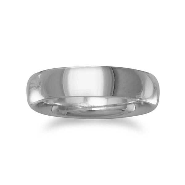 5mm Rhodium Plated Band