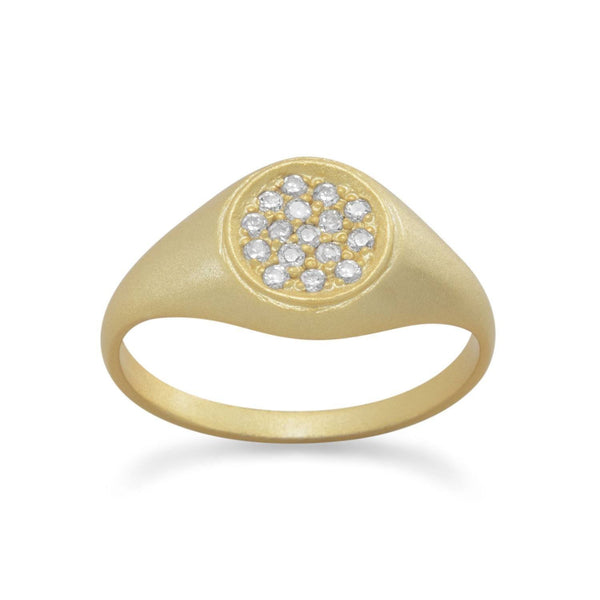14 Karat Gold Plated CZ Ring | Brittono's Collection
